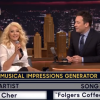 Christina Aguilera Does a Spot-On Singing Impression of Cher, Britney Spears on the Tonight Show