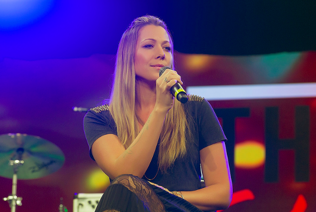 """Colbie Caillat performing """"Never Gonna Let You Down"""" at the 2015 She Rocks Awards. Photo by Anjani Lynn White"""