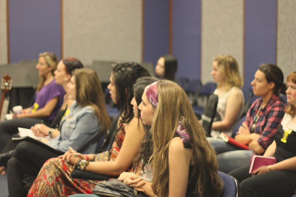 Marcha Noelle attending a class during our Women's Music Summit in 2013 in Hollywood in Musicians Institute.