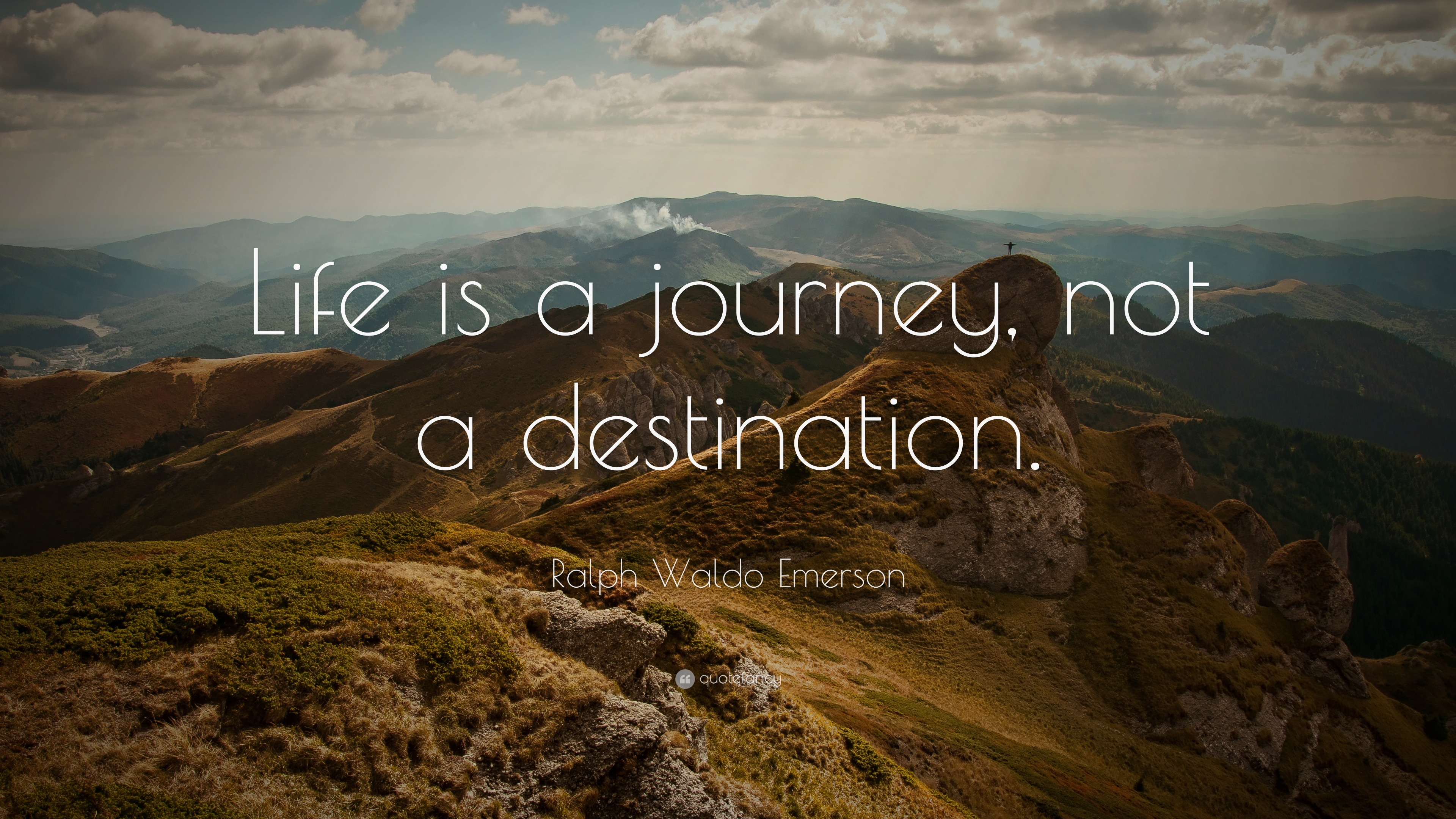 7023 ralph waldo emerson quote life is a journey not a destination