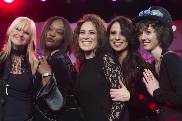 Mindi Abair, Amani Duncan, Laura Whitmore, Jenna Paone, and SHEL's Eva Holbrook. Photo by Anjani Lynn White.